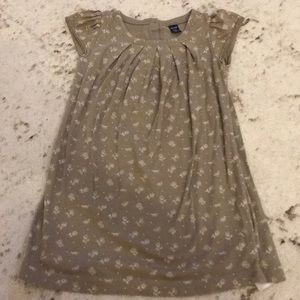 Gap kids girls brown dress size 4T with flowers